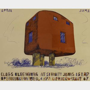 Claes Oldenburg (American, b. 1929)      Claes Oldenburg at Sidney Janis 1967