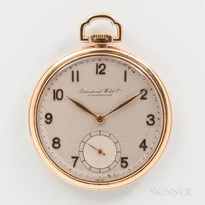 IWC Open-face 14kt Gold Watch