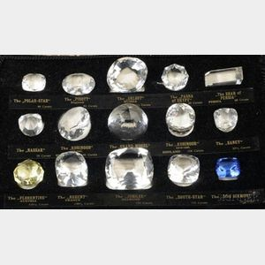 """Cased Set of Fifteen Reproduction """"Historical Diamonds"""""""