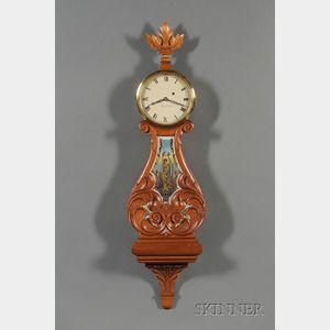 Mahogany Lyre Clock by Foster S. Campos