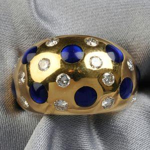 18kt Gold, Enamel, and Diamond Ring, Van Cleef & Arpels
