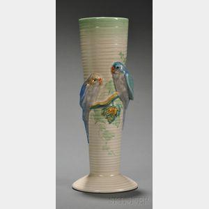 """Clarice Cliff """"Budgie"""" Vase"""