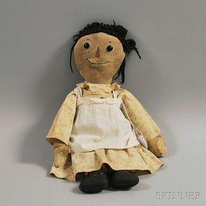 Early Volland Raggedy Ann Cloth Doll