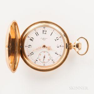 Audemars 18kt Gold Hunter-case Watch