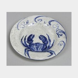 Dedham Pottery Crab Bread And Butter Plate,, ,