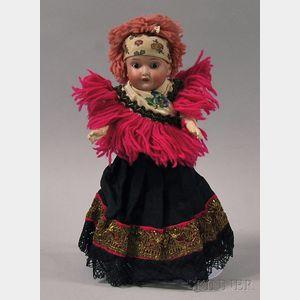 Small Schoenau & Hoffmeister Character Bisque Socket Head Doll