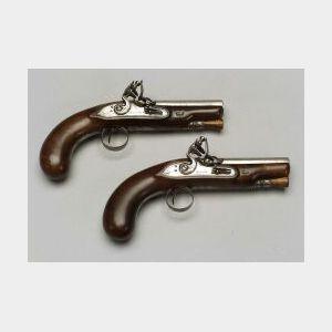 Pair Of Irish Flintlock Pocket Pistols