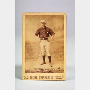 1887-1890 Old Judge Cigarettes New Yorks Giants John Monte Ward Cabinet Card.