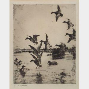 Frank Weston Benson (American, 1862-1951)    In Island Pond