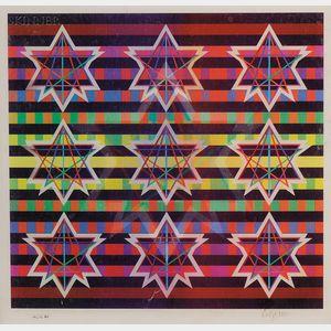 Yaacov Agam (Israeli, b. 1928)      Untitled (Stars) / An Agamograph