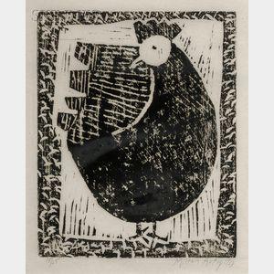Milton Avery (American, 1885-1965)      Hen