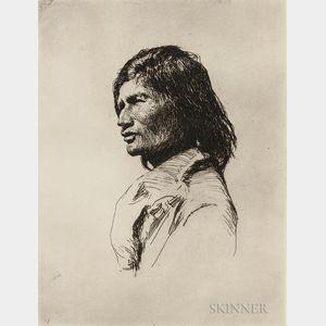 Frank Weston Benson (American, 1862-1951)      Nascaupée Indian