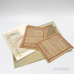 Group of Fireworks Advertisements and Broadsides
