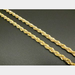 Two 18kt Bicolor Gold Necklaces