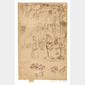 James Abbott McNeill Whistler (American, 1834-1903)      Turkeys