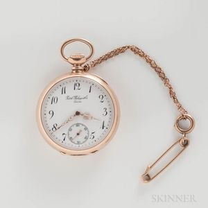 Patek Philippe 18kt Gold Open-face Pendant Watch