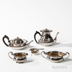 Four-piece Durgin Sterling Silver Tea and Coffee Service
