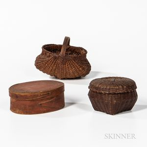 Three Small Woodenware Items