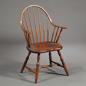 Windsor Bow-back Continuous-arm Chair