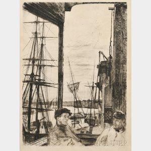 James Abbott McNeill Whistler (American, 1834-1903)      Rotherhithe