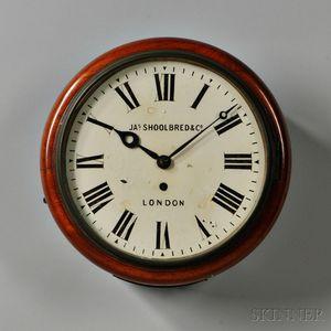 English Fusee Dial Clock