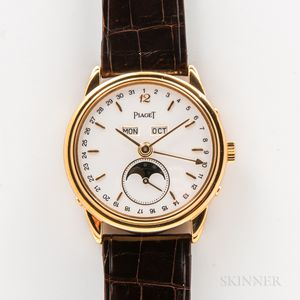 Limited Edition 18kt Gold Piaget Reference 15908 Triple Date Wristwatch