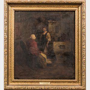 Endre Komaromi-Kacz (Hungarian, 1880-1969)      Interior Scene