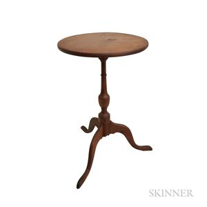 Queen Anne-style Cherry Candlestand