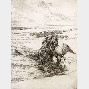 Frank Weston Benson (American, 1862-1951)    The Retriever