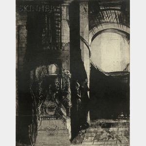 Odilon Redon (French, 1840-1916)      Et partout ce sont des colonnes de basalte...La lumière tombe des voûtes