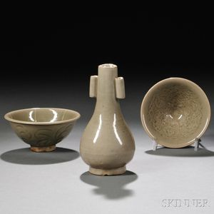 Three Yaozhou Celadon Items