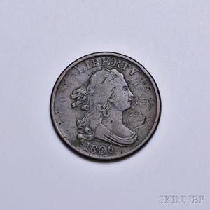1806 Draped Bust No Stems Half Cent