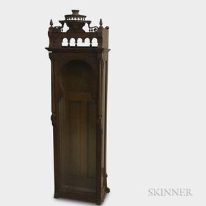 Renaissance Revival Glazed Oak Tall Clock Case