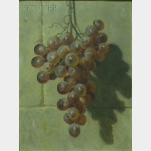American School, 19th/20th Century      Still Life with Hanging Grapes