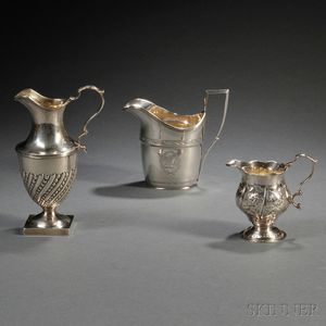 Three George III Sterling Silver Creamers