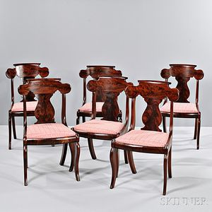 Set of Six Gothic Revival Side Chairs