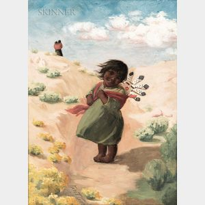 Kate Thompson Cory (American, 1861-1958)      Young Hopi Girl