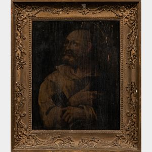 Continental School, 17th Century Style      Saint Peter, Half Length, Looking Heavenwards and Holding the Keys