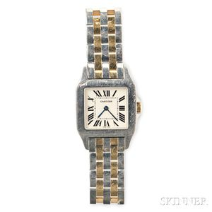 Gold and Stainless Steel Wristwatch, Cartier