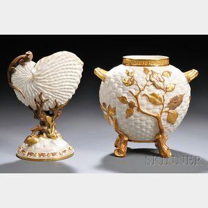 Two Royal Worcester Porcelain Vases