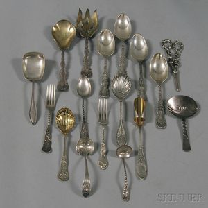 Group of Assorted Sterling Silver Flatware Serving Items