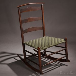 Shaker Production Armless Rocking Chair