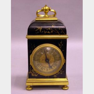 Gubelin Chinoiserie Gilt-metal Mounted Lacquered Bracket Clock