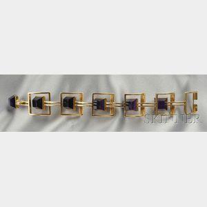 14kt Gold and Amethyst Bracelet