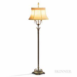 Art Deco Patinated Metal Floor Lamp