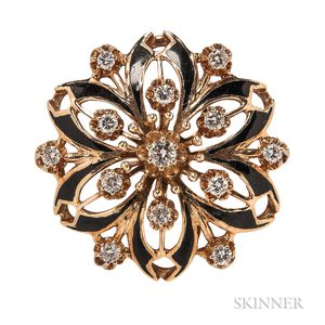 14kt Gold and Diamond Pendant/Brooch