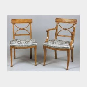 Set of Eight Regency-style Mahogany Dining Chairs