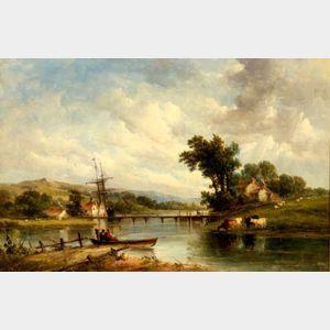 Alfred Vickers, Sr. (British, 1786-1868)    Woolton Creek, Isle of Wight