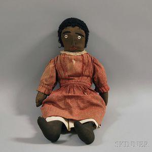 All-cloth Black Girl Doll