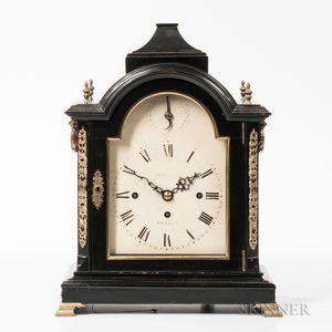 English Quarter-chiming Ebonized Bracket Clock